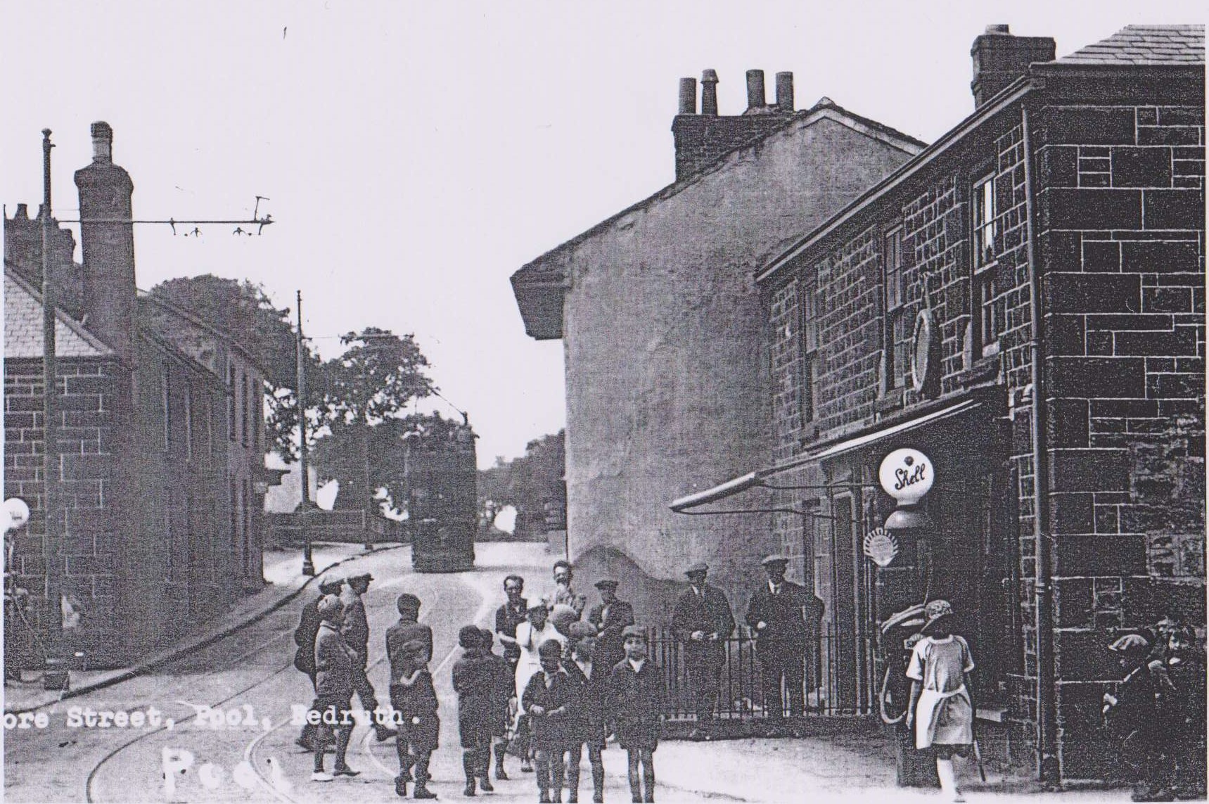 pool fore street with petrol pumps